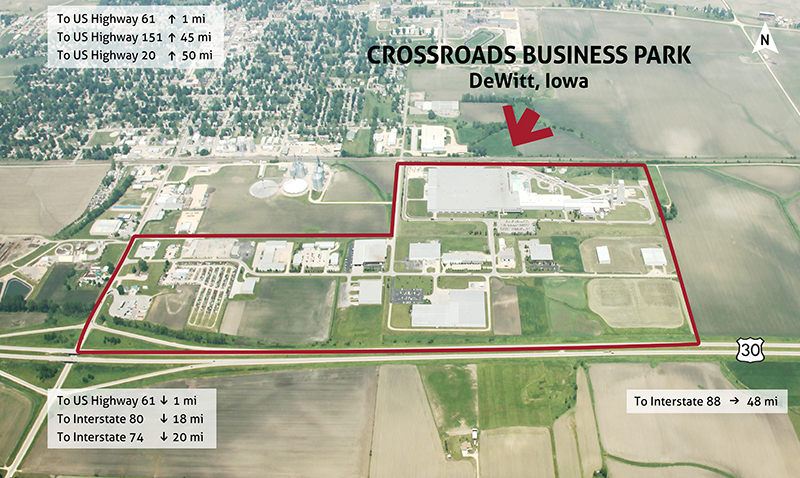 CrossroadsBusinessParkPagejpg - Us highway 30 map